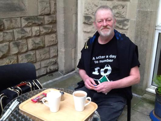 Energising: Keith Lindsay-Cameron prepares to take his case to the police.