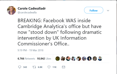Facebook in CA s office