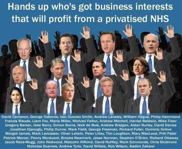 Image result for MPs with a vested interest in NHS