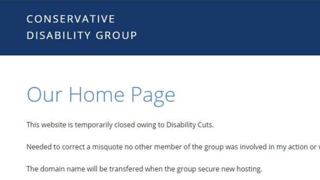 Tory disability home page