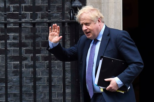 Boris Johnson Leaves For PMQs